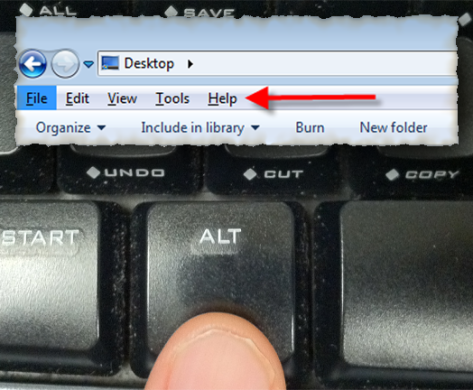 Windows Explorer Pull Down Menus